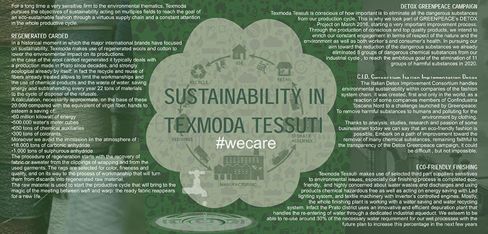 Sustainability in Texmoda Tessuti